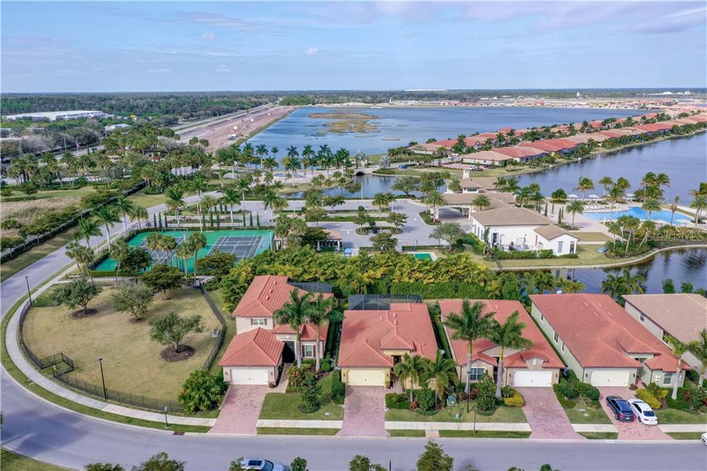 Aerial - Single Family Home for sale at 108 Maraviya Blvd, North Venice, FL 34275 - MLS Number is N6113946