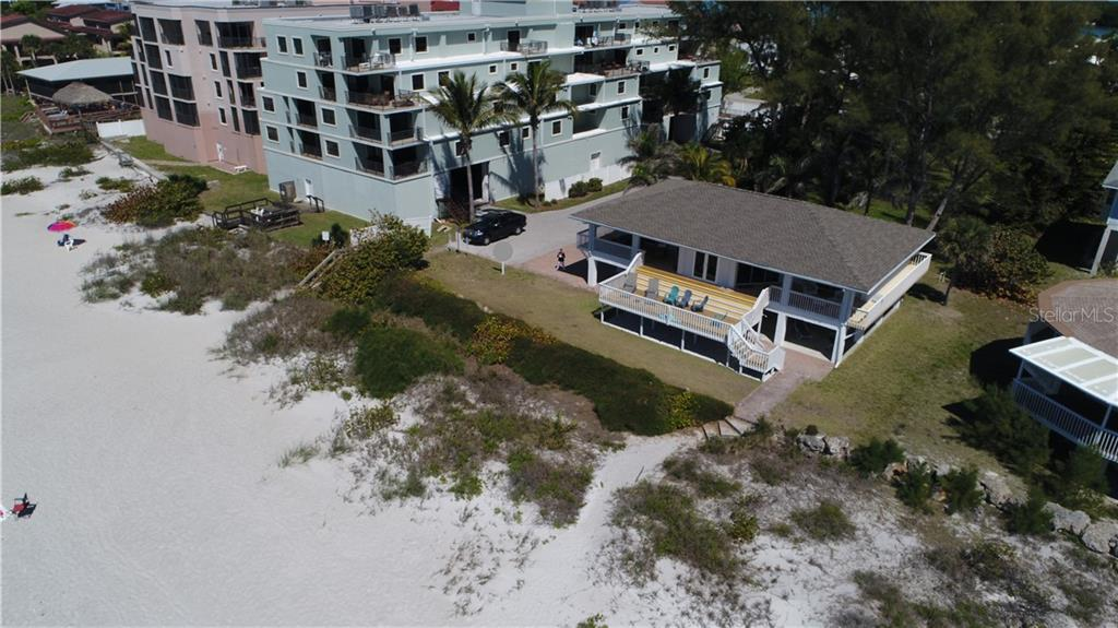 Exterior beach side - Single Family Home for sale at 55 Meredith Dr, Englewood, FL 34223 - MLS Number is D6105559