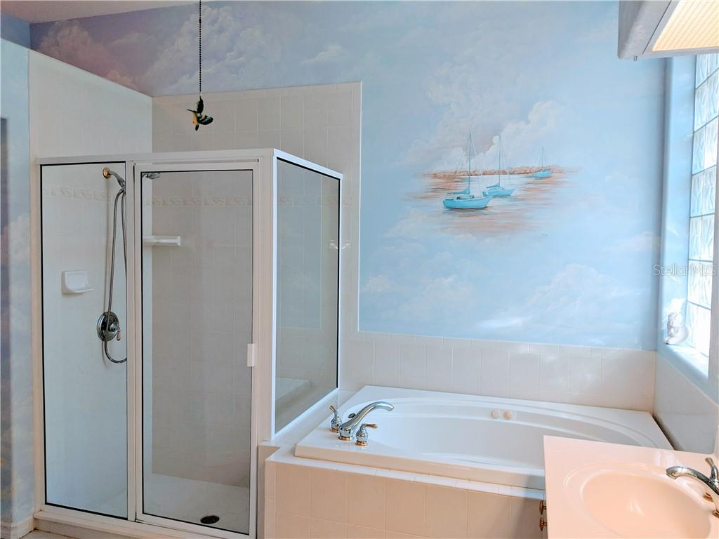 MASTER BATH, OVER-SIZED SHOWER, HUGE SOAKING TUB - Single Family Home for sale at 26442 Feathersound Dr, Punta Gorda, FL 33955 - MLS Number is C7412660
