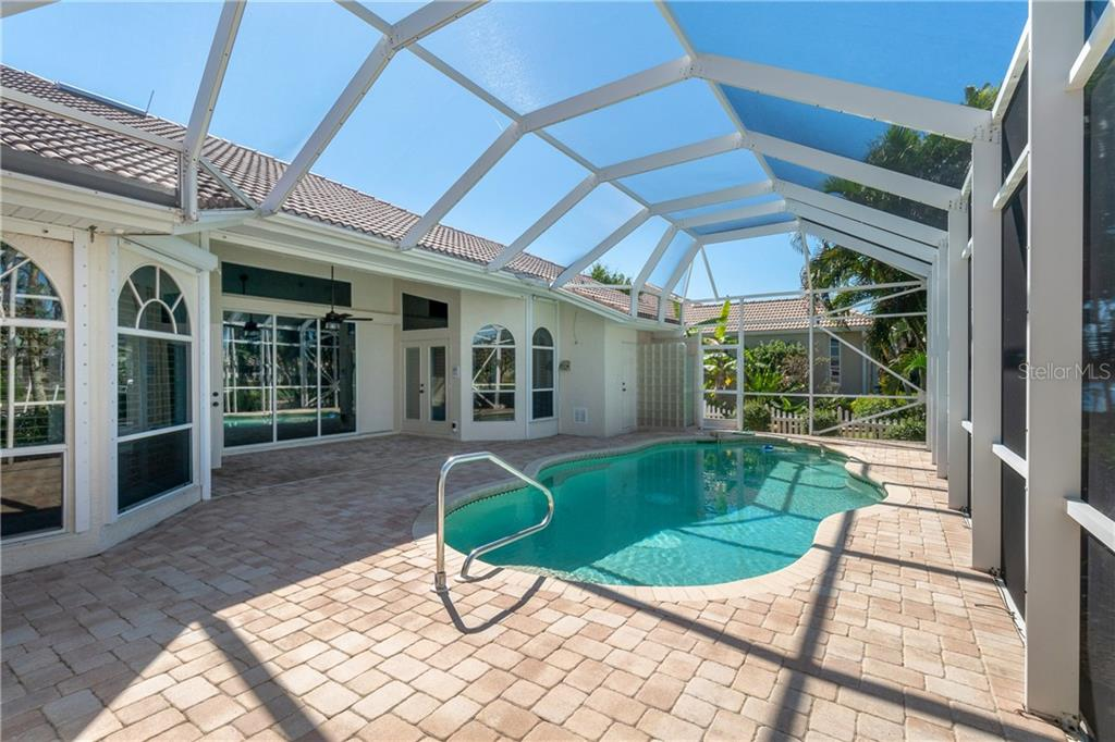 Saltwater Pool for easy care. Newer Heat Pump as well.Large pavers around the pool and lanai. - Single Family Home for sale at 1309 Casey Key Dr, Punta Gorda, FL 33950 - MLS Number is C7413790