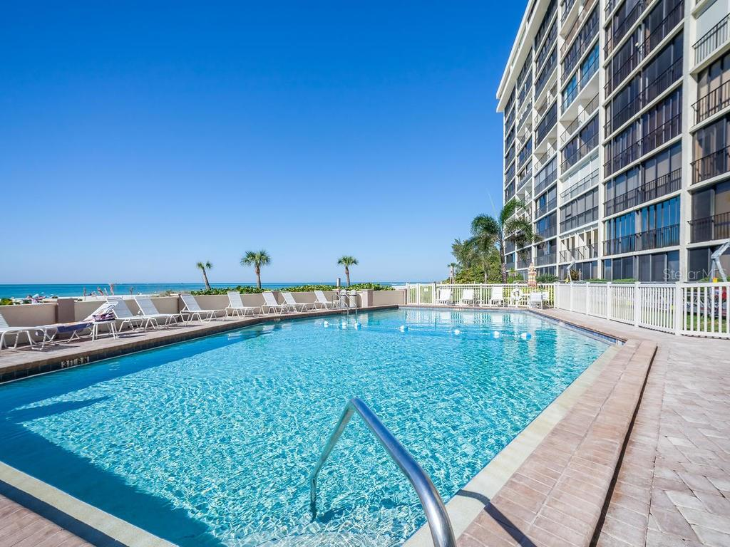 And many amenities - just one of the pools - - Condo for sale at 20 Whispering Sands Dr #301, Sarasota, FL 34242 - MLS Number is A4190302