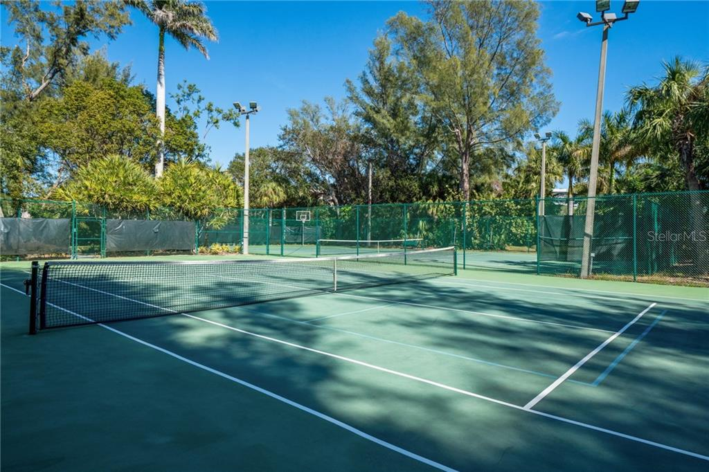 Lighted tennis courts - Condo for sale at 5880 Midnight Pass Rd #810, Sarasota, FL 34242 - MLS Number is A4208619