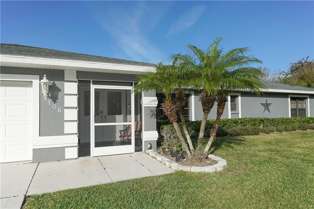 Screened in front porch. - Single Family Home for sale at 8106 Timber Lake Ln, Sarasota, FL 34243 - MLS Number is A4423770