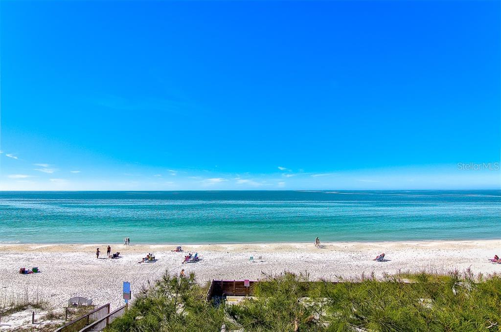View of Gulf from the West Balcony - Duplex/Triplex for sale at 2500 Gulf Dr N, Bradenton Beach, FL 34217 - MLS Number is A4424506