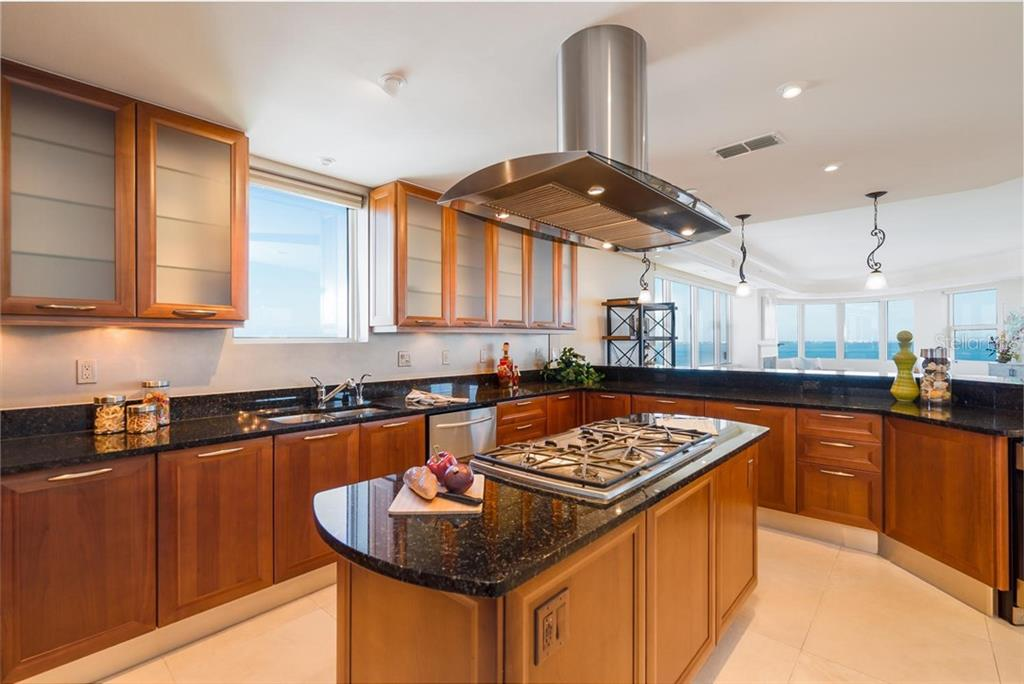 Just imagine preparing great meals with that backdrop! - Condo for sale at 128 Golden Gate Pt #902a, Sarasota, FL 34236 - MLS Number is A4433296