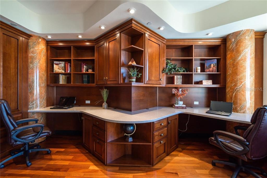 Formal Office with great built-in office furniture and work space for two! - Condo for sale at 128 Golden Gate Pt #902a, Sarasota, FL 34236 - MLS Number is A4433296