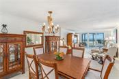 Dining area - Condo for sale at 5880 Midnight Pass Rd #810, Sarasota, FL 34242 - MLS Number is A4208619